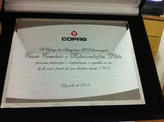 Placa Comemorativa Copag